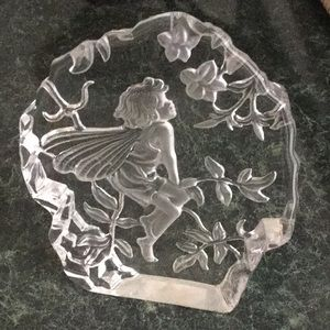 Child Fairy Thick Heavy Glass Table Decor
